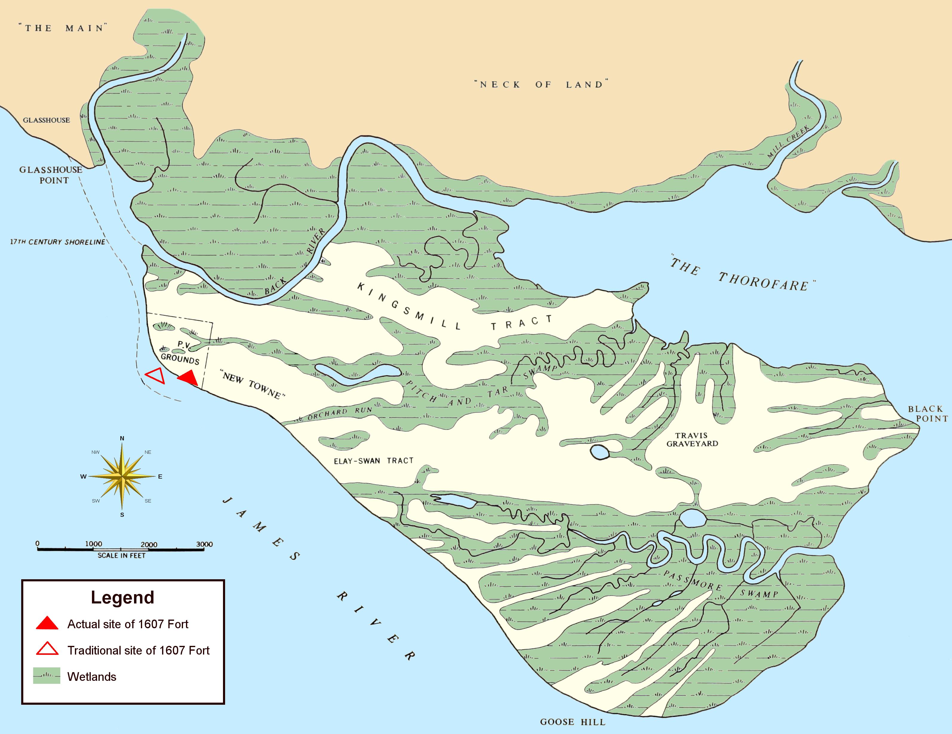 Jamestown Island Base Map