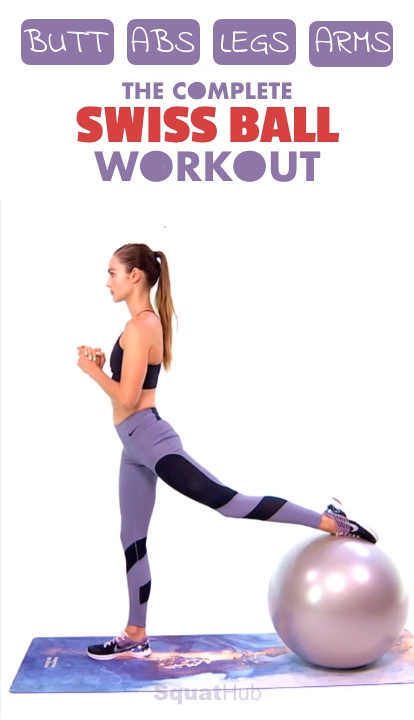 The Complete Swiss Ball Workout For Butt, Abs, Legs & Arms