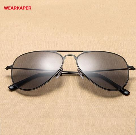 b39bb836d1 WEARKAPER Polarized Gray Tinted Stainless Steel Frame Sun Readers Reading  glasses Dual use Presbyopia Glasses 1.0-4.0