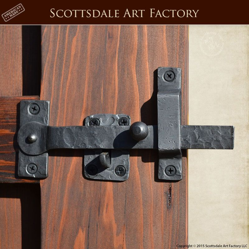 Gate Latch Hand Forged Wrought Iron Glh987 Custom Gate And Door Hardware In Rustic Design