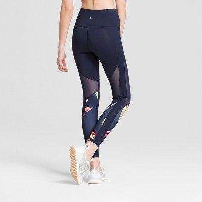 5095e027de4 Women s Tropical Print Mesh Leggings - JoyLab Navy Xxl