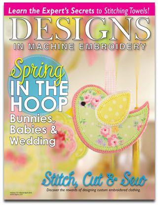 Designs In Machine Embroidery Magazine 1 Year 66 Free Designs