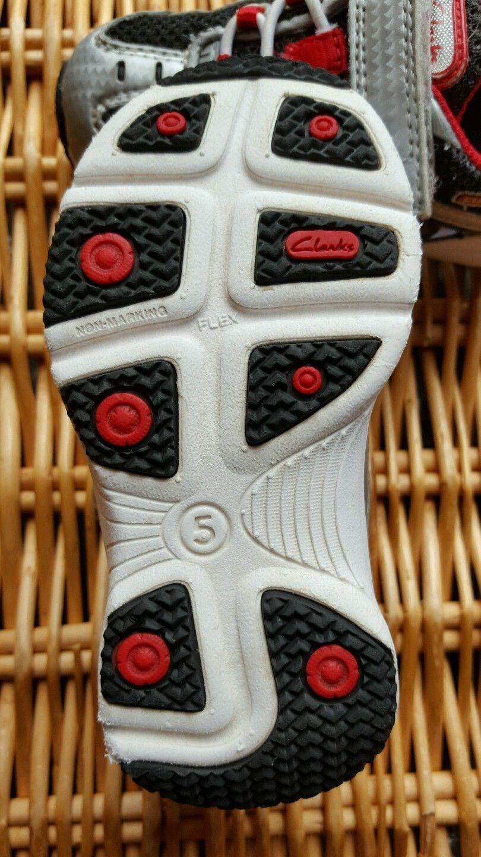 Clarks Cool Flex Net Air Talla Velcro Plata/Negro/Rojo Trainers Zapatos Talla Air c5fbe8