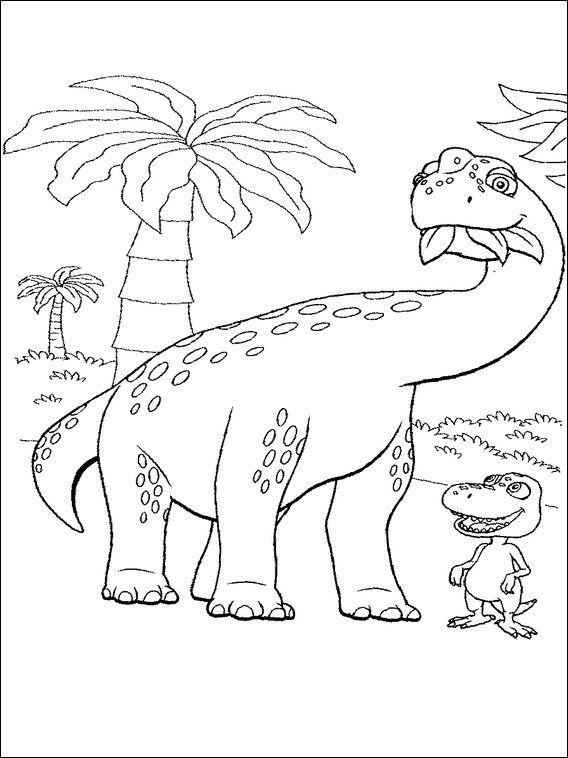 dinosaurier zug 3 ausmalbilder für kinder malvorlagen zum