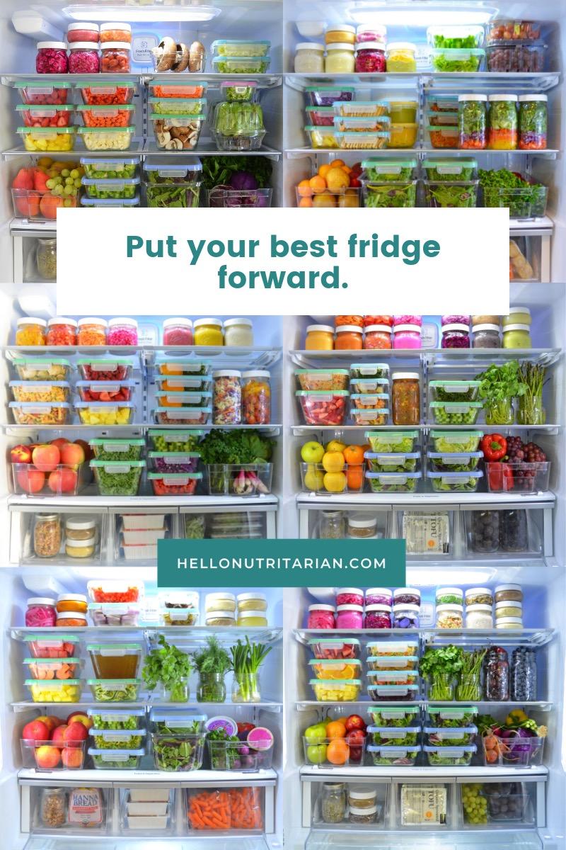 The Eat to Live Fridge Hello Nutritarian Healthy