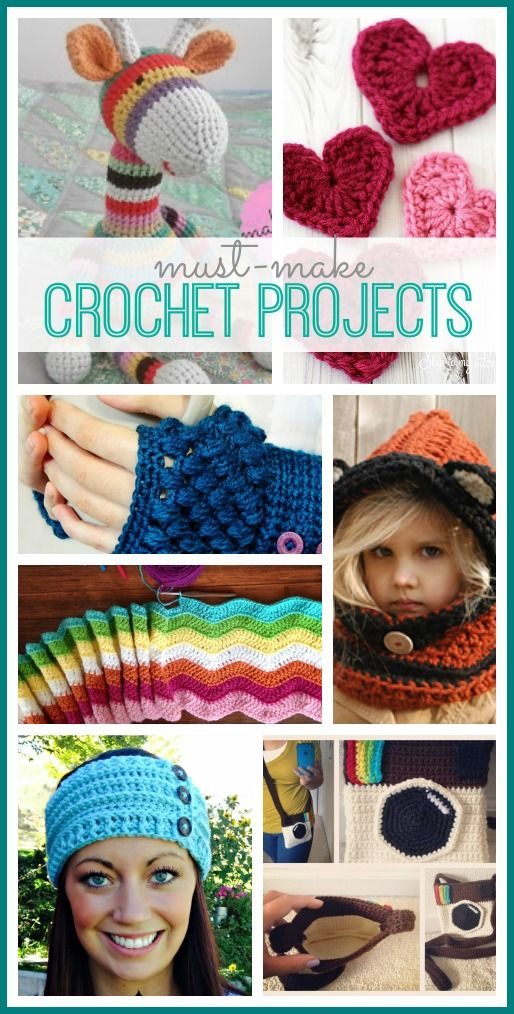 Simple Must-Make Crochet Projects with patterns - love all of these!! - - Sugar…
