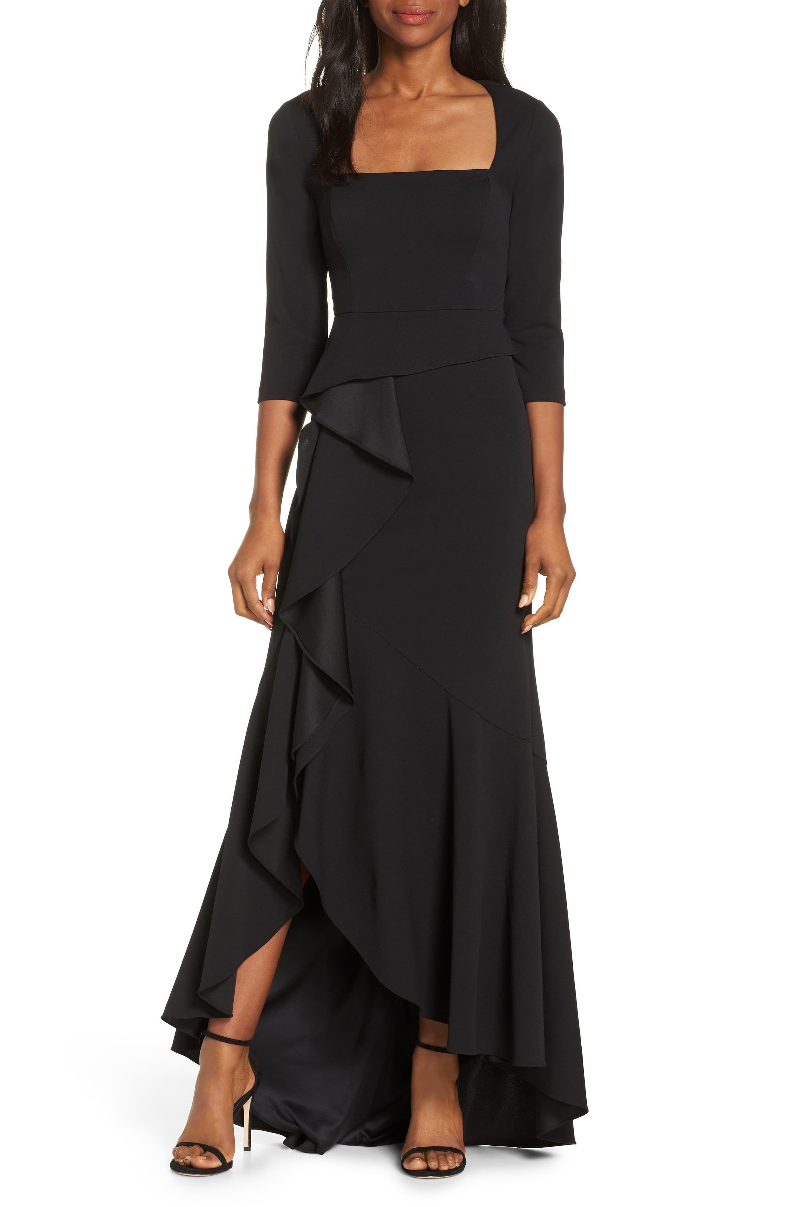 Adrianna Papell Cascade Ruffle Evening Dress | Evening