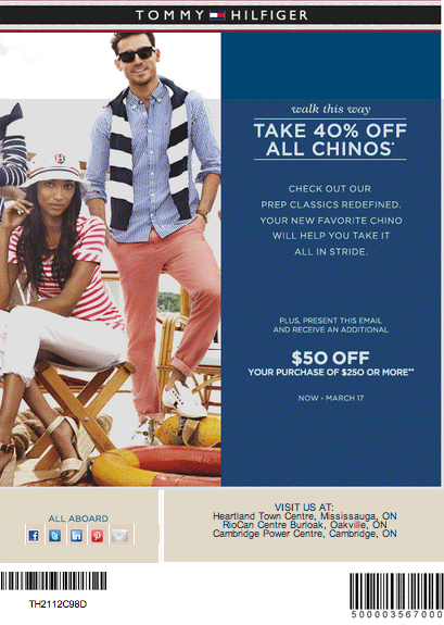 graphic relating to Tommy Hilfiger Printable Coupon identified as Cost-free Printable Coupon codes: Tommy Hilfiger Discount coupons Very hot Coupon codes