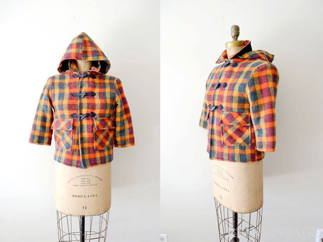 A vintage wool, cropped fall jacket.