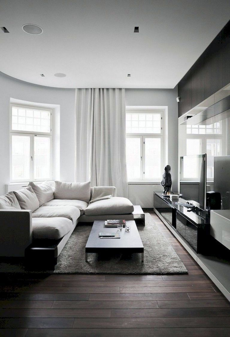 14 Dark Color Scheme For Scandinavian Living Rooms Ideas Minimal Living Room Dark Floor Living Room Living Room Decor Apartment