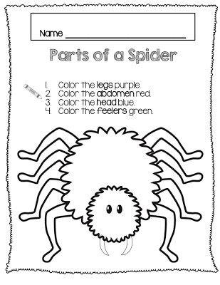 Teaching The Littles Spiders And Skittles Freebies The Very Busy Spider Parts Of A Spider Spider Crafts Preschool