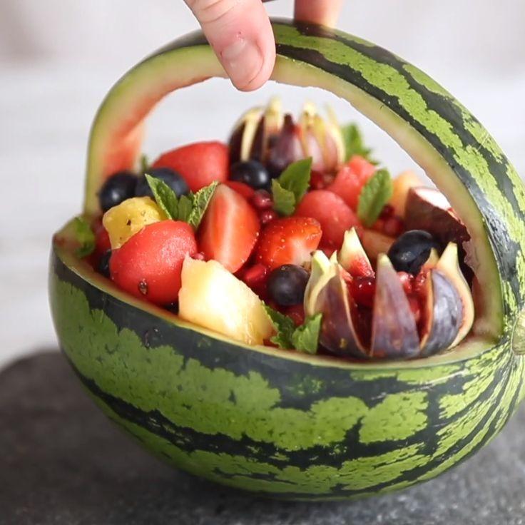 Watermelon Basket : #Watermelon #Basket in 2020   Food ...
