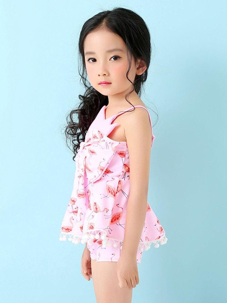 cce9da744d129 ... Item Type:Bathing Suits Gender:Baby Material:Nylon,Spandex Bust  Built-in:No Padding Sport Type:Wireless Feature:Flamingo Printing,Bowknot  Color:Pink ...