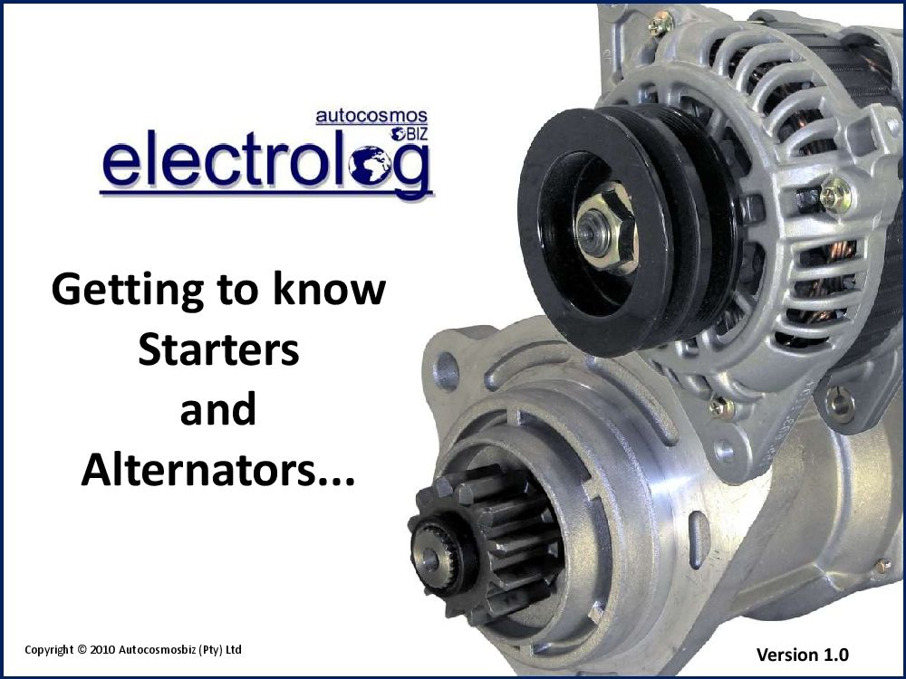 Starters And Alternators Pdf Download