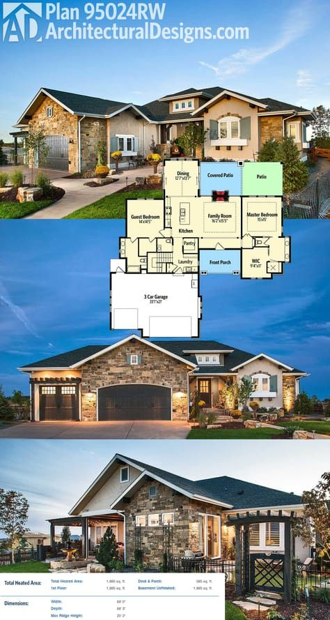 Architectural designs house plan rw gives you great outdoor living in back inside get bedrooms  split layout and over square feet of also rh pinterest