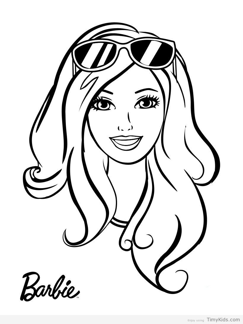 Pin on Colorings Barbie Outline