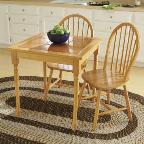 3 Piece Tile Top Dining Set From Through The Country Door Retro Kitchen Tables 3 Piece Dining Set Dining Table Setting