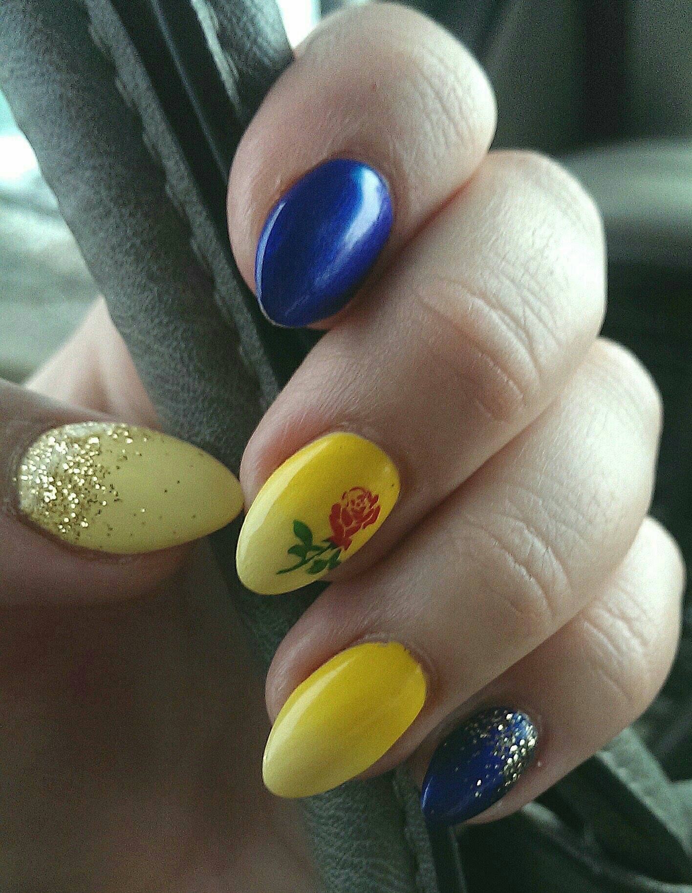Beauty and the Beast subtle nails - Beauty | Pinterest - Disney ...