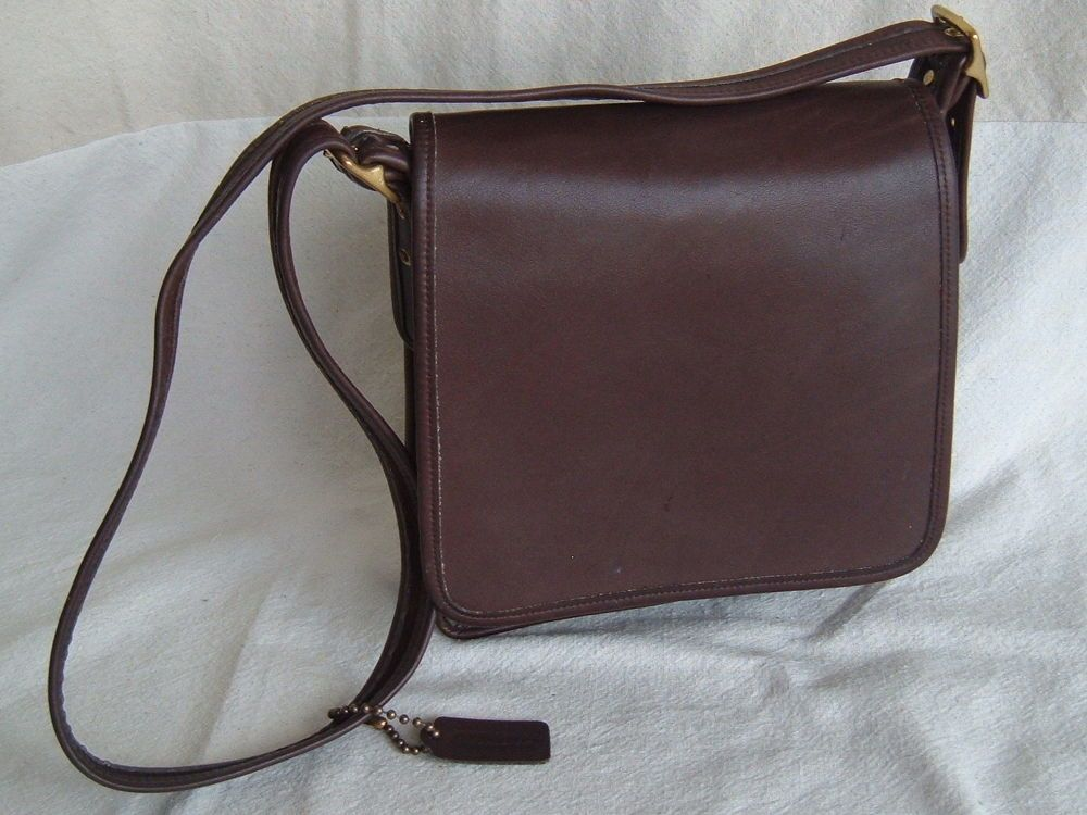COACH VINTAGE BROWN LEGACY STUDIO FLAP BLACK LEATHER CROSSBODY PURSE 9144  USA  Coach  ShoulderBag 9732bd5de34a8