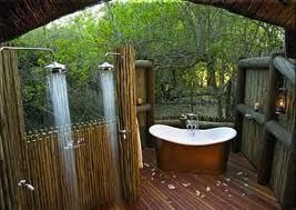 I am dying for an outdoor bathroom/shower