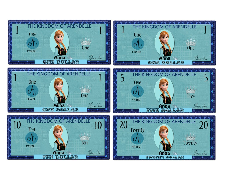 Printable Play Money For Kids