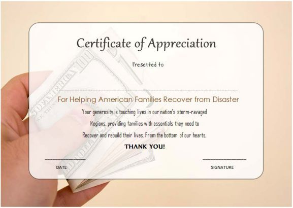 Free Thank You For Your Donation Certificate Template  Thank You