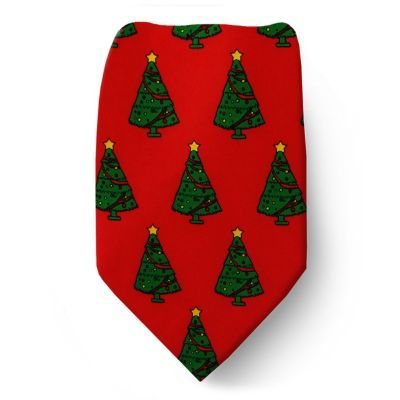 Red - Green - Yellow Kids Christmas Tie