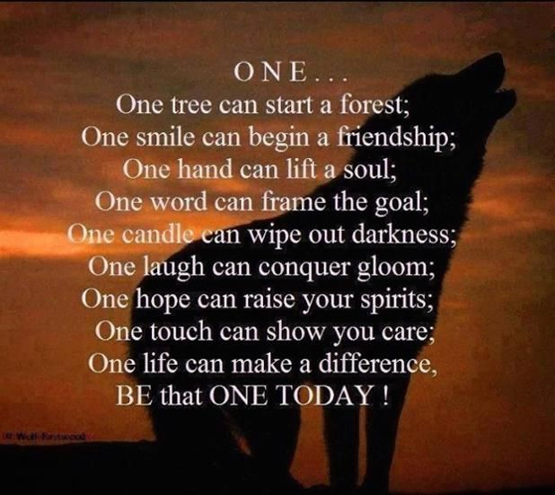One life can make a difference . . . Be That One!