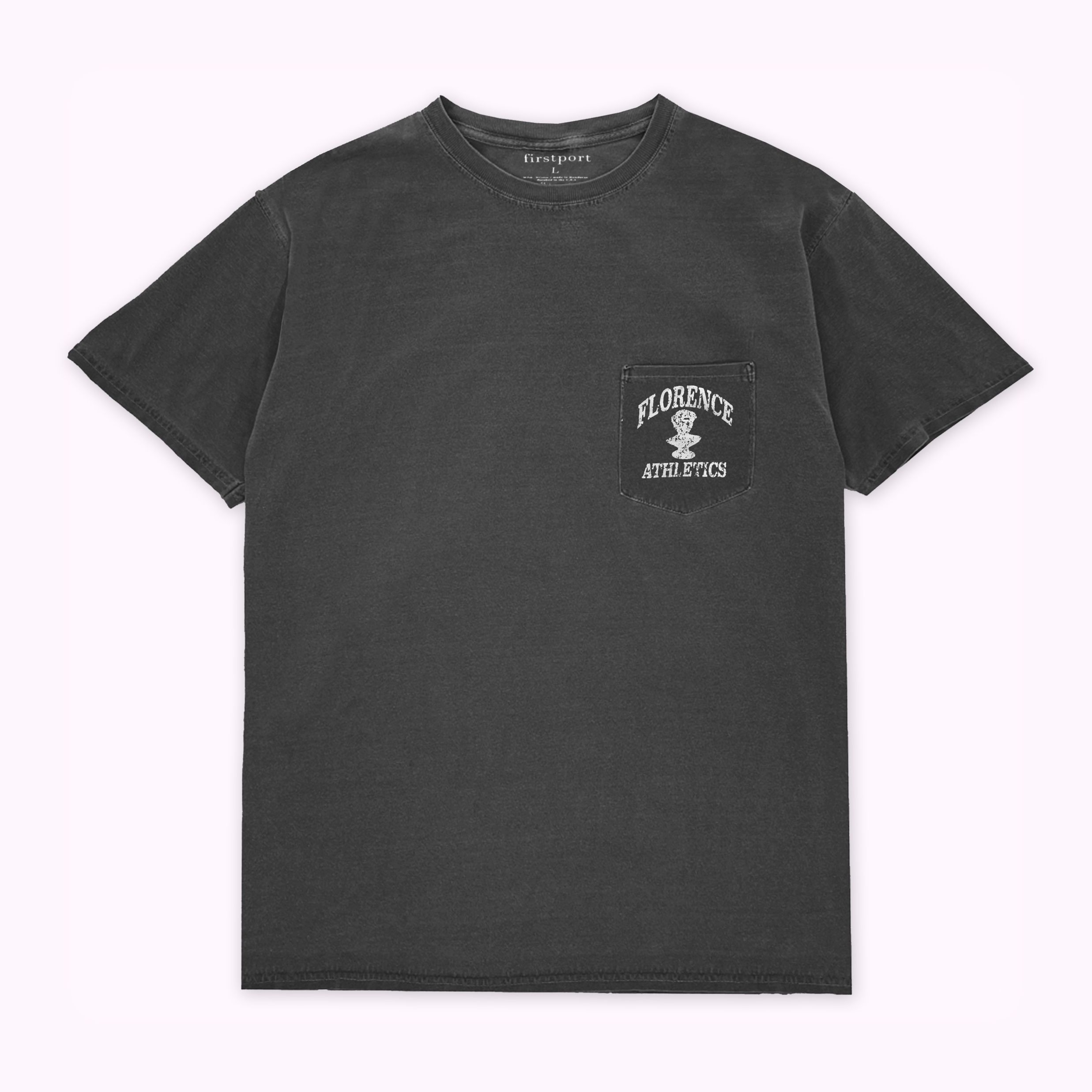 Florence Athletics Crackle Pocket T-shirt - Dyed Black ...