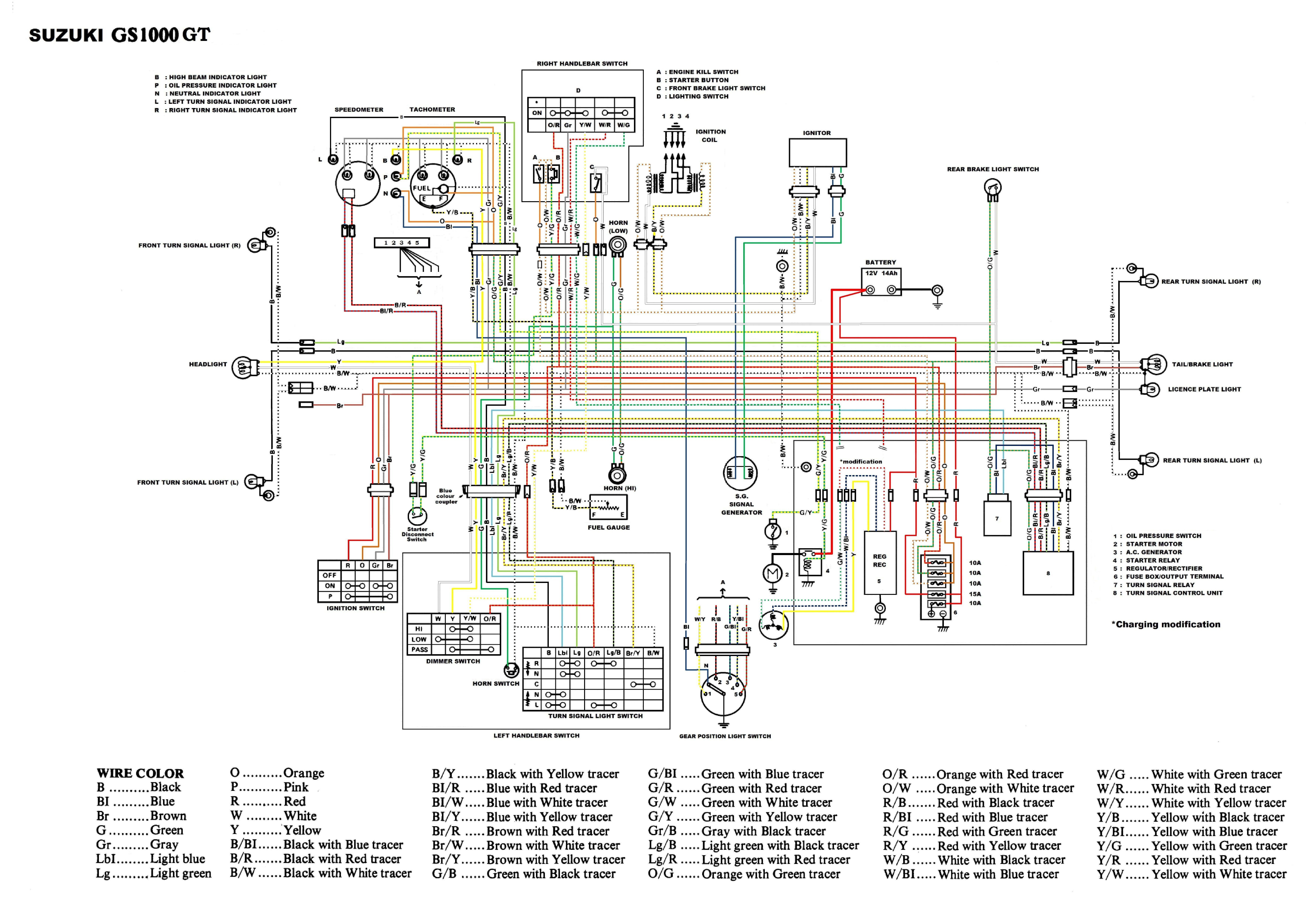 1980 Suzuki Wiring Diagram Schematic