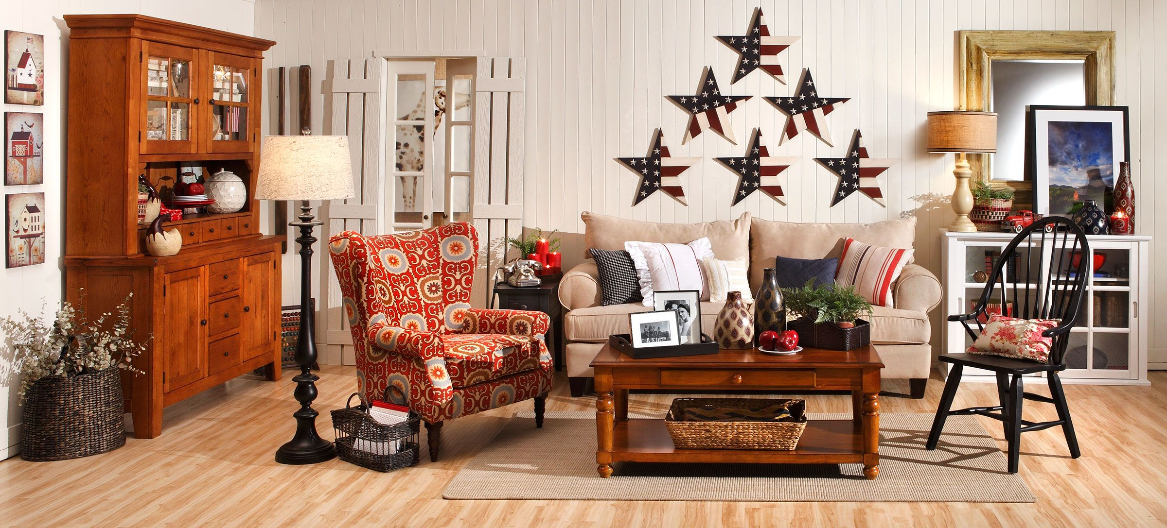 Americana home decor home vintage and room decor for Americana style house