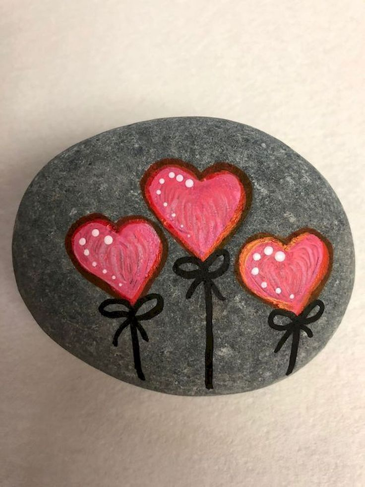 25 Gorgeous Painted Rocks Valentines Day Ideas - Steine bemalen - #bemalen #Day ... - Eventpl...