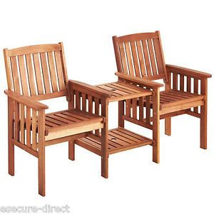 vonhaus jack jill love seat companion hardwood garden furniture bench set - Wooden Garden Furniture Love Seats
