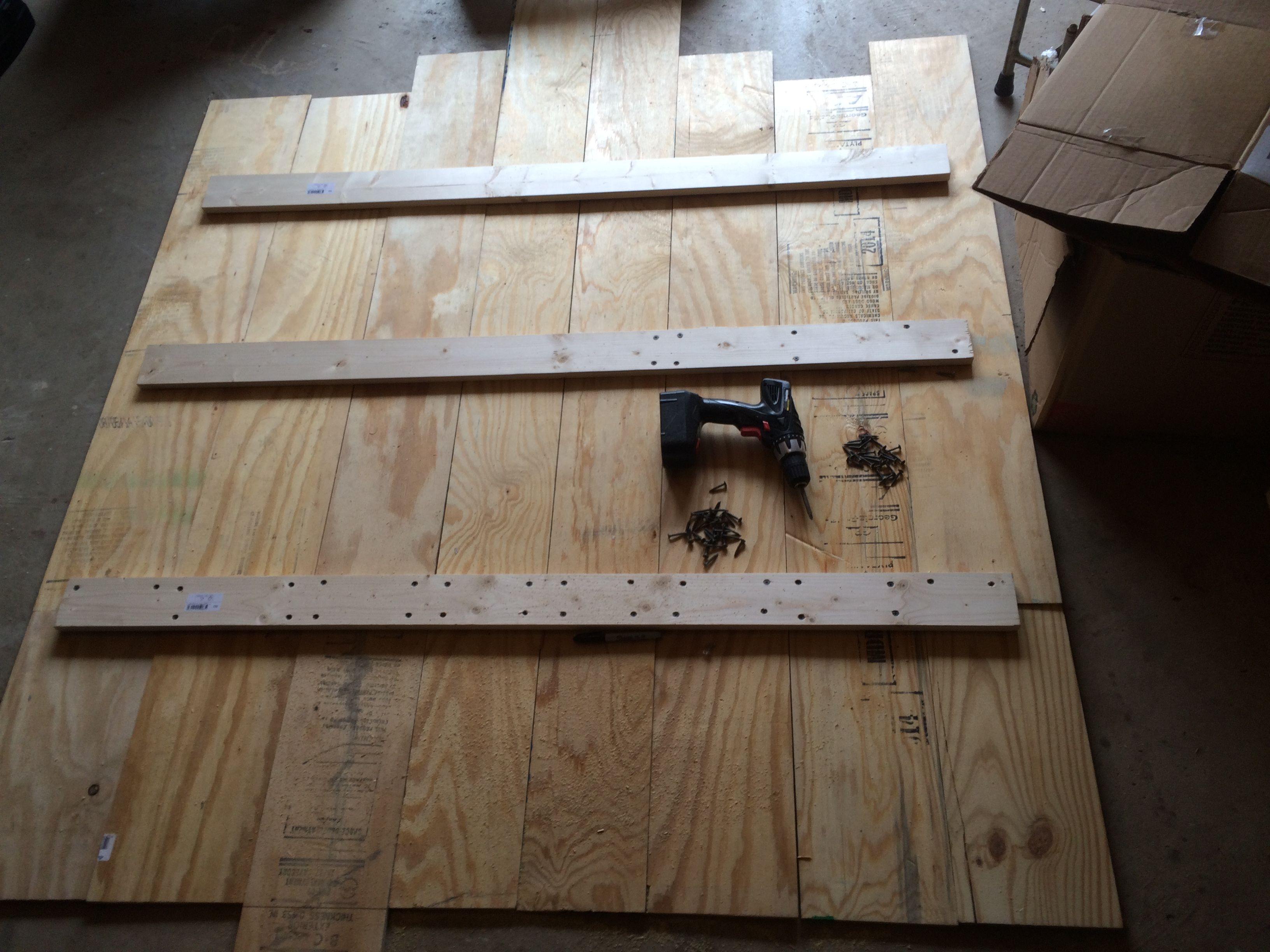 So It All Begins With Choice Of Materials Dimensions And A Basic Design Idea This Is 19 32 Plywood In Random Widths Of 7 Diy Headboard Headboard Box Spring