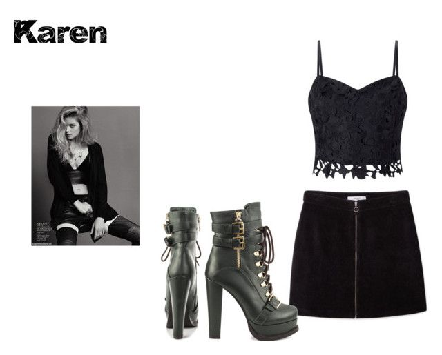 """Karen"" by cifranklin on Polyvore featuring MANGO, Lipsy and Luichiny"