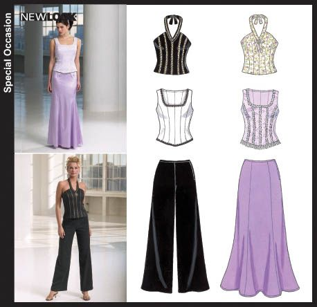 New Look New Look 6584 Misses Evening Tops, Pants and Skirt   Pinterest
