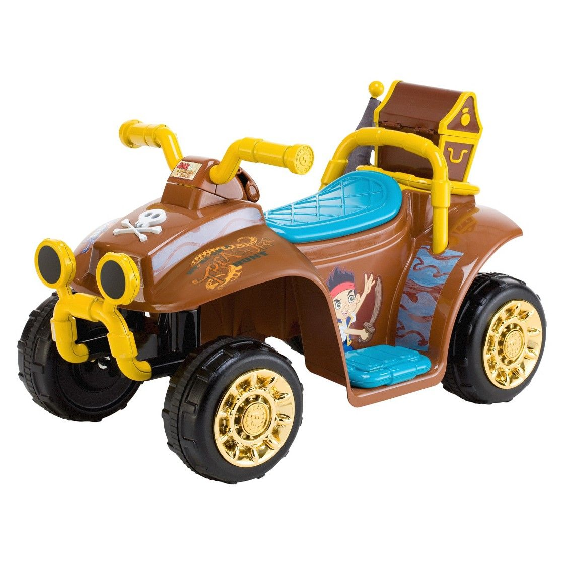 Kid Trax Disney Jake and the Neverland Pirates 6V Quad Ride On.  My son would love this!