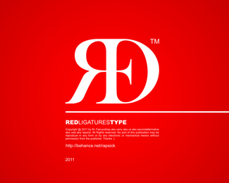 RED - Ligatures Type  (via by vast)