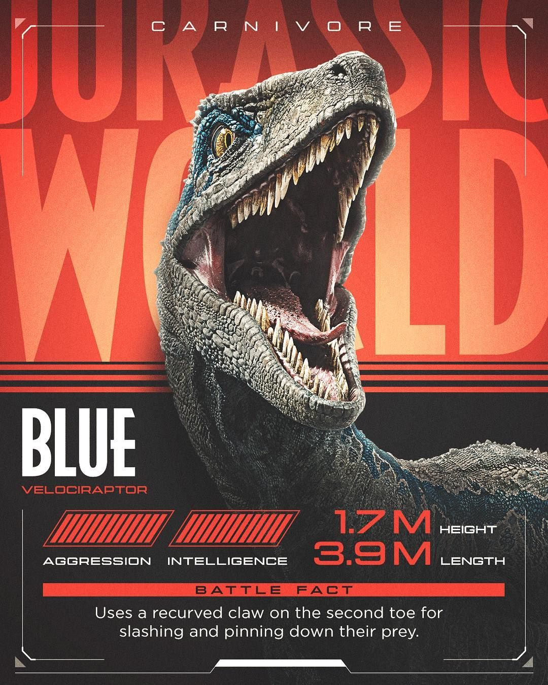 "Jurassic World on Instagram ""Last round Blue vs"