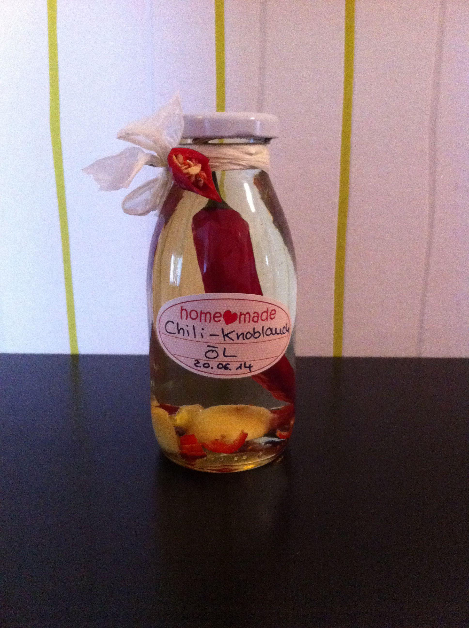 Chili Knoblauch Öl   mit Sonnenblumenöl