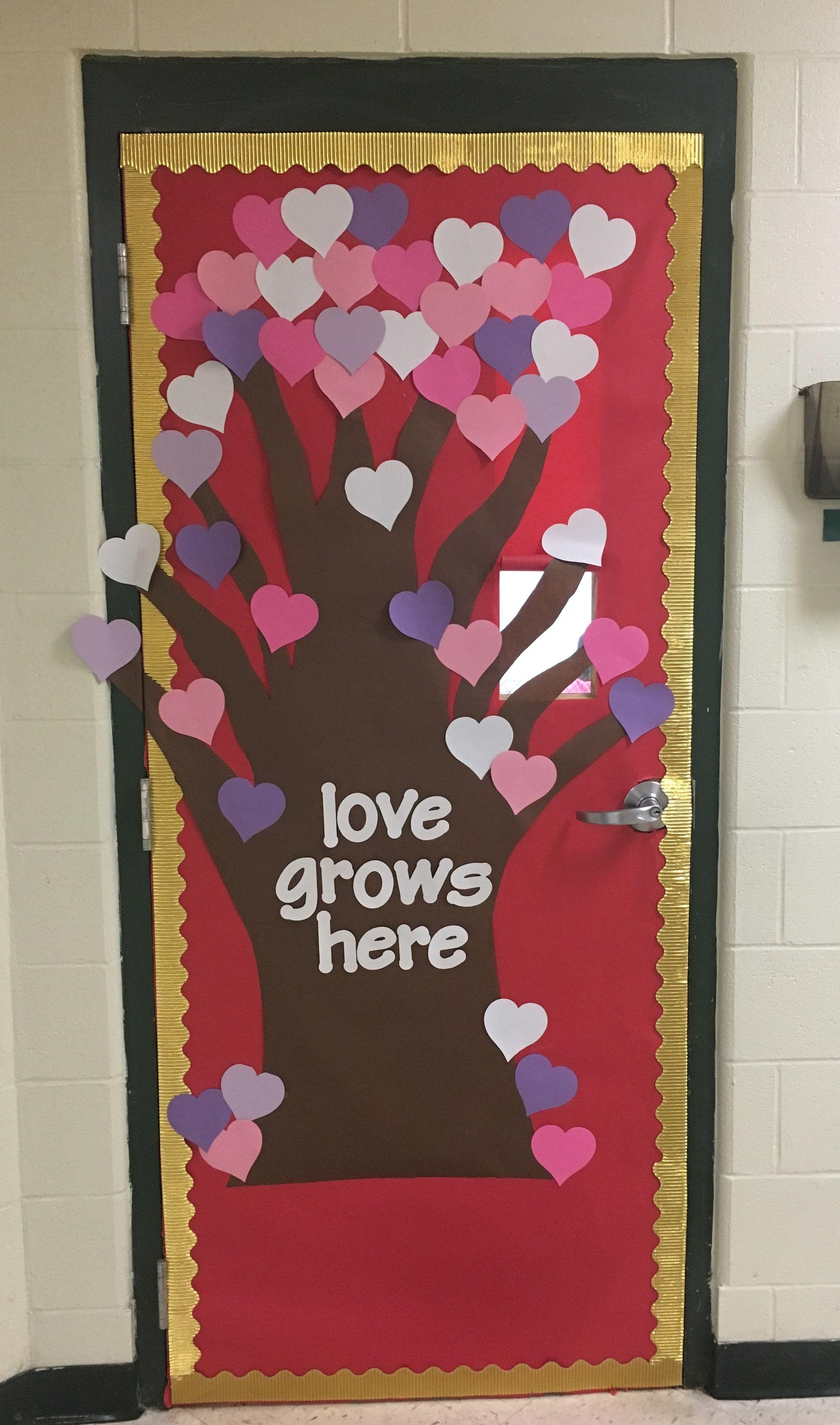 Valentinesday Classroom Door School Heart Valentines Door Decorations Classroom Valentines Classroom Door Valentines Classroom Decorations