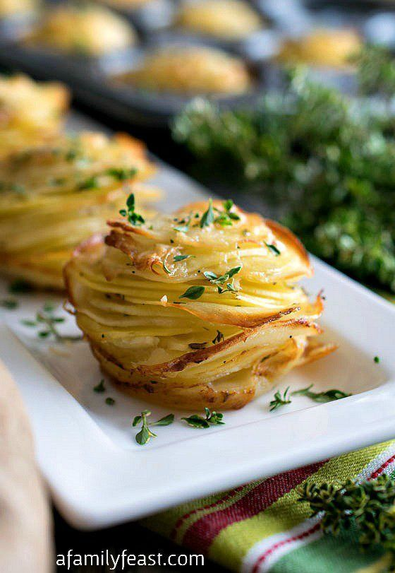 Potato Stacks Asiago Potato Stacks - Super simple to make, these delicious potato stacks are the perfect, elegant side dish to any meal!Asiago Potato Stacks - Super simple to make, these delicious potato stacks are the perfect, elegant side dish to any meal!