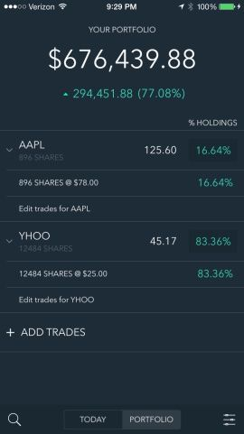 portfolio stock tracker and brokerage companion screenshots app
