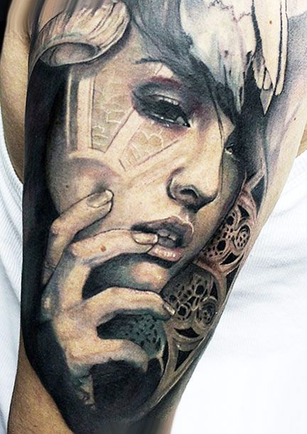 6242074aa Face tattoo by Jak Connolly | Black and Gray Tattoos | Tattoos ...