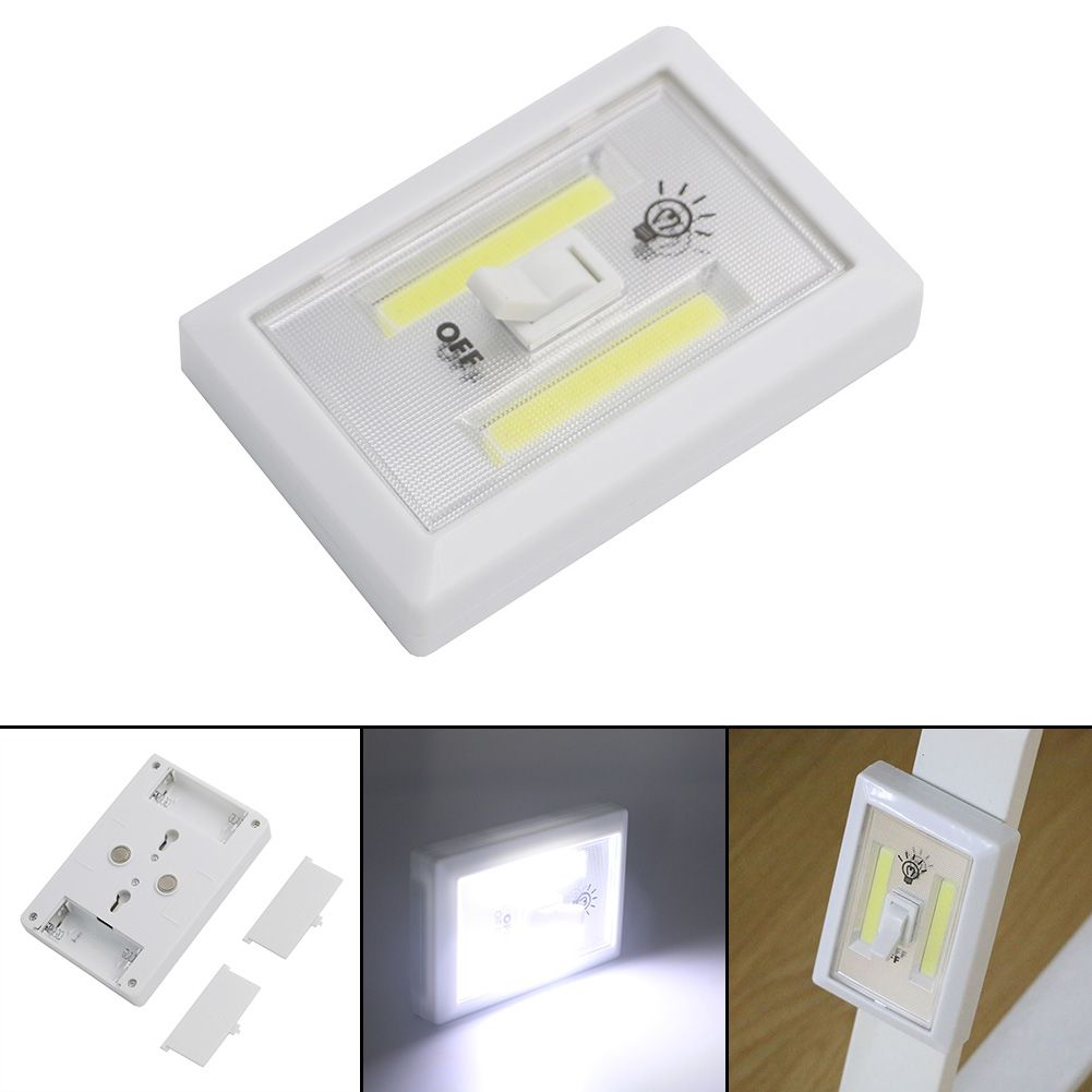 Magnetic Mini Cob Led Cordless Lamp Switch Wall Night Lights Battery Operated Kitchen Cabinet Garage Closet Camp Em Night Light Led Wall Lights Led Night Light