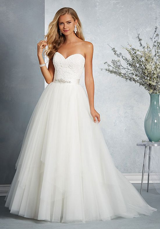 8ff564758224 Modern two-piece wedding dress | Alfred Angelo Signature Bridal Collection  2506 | http: