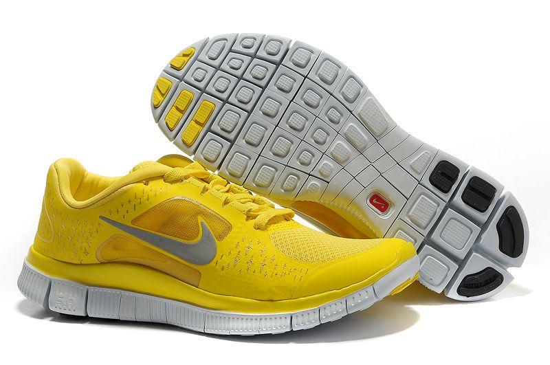 nike free run 5.0 womens fluorescent yellow
