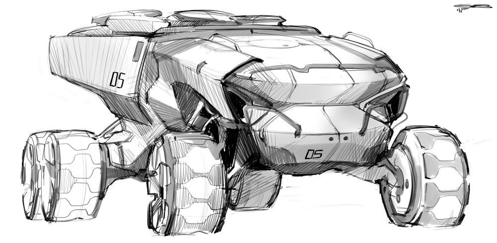 Car design sketches #9