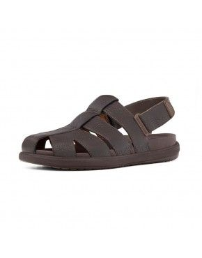 4a56f61bc Fitflop Mens Sandals Ffisher Leather Chocolate