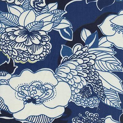 Bernett Fabric-Duralee Kiji-Navy